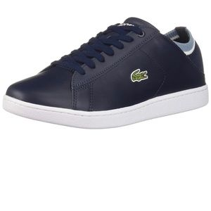 Lacoste Women's Athletic Sneaker Navy blue lace up